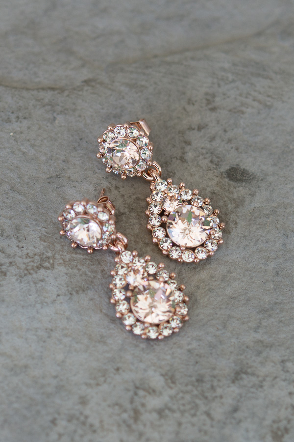 lily and rose earrings