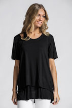 Ajlajk - T-shirt med underlinne Black