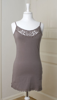 Cream - Strap Top Long Mille Grey Brown 50% REA
