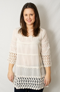 Love Forever - Ann Tunic Moon White 50% REA