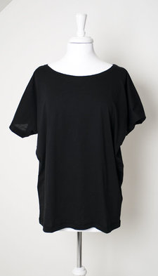 Mellow Rose - T-Shirt Gudrun Oversize Black