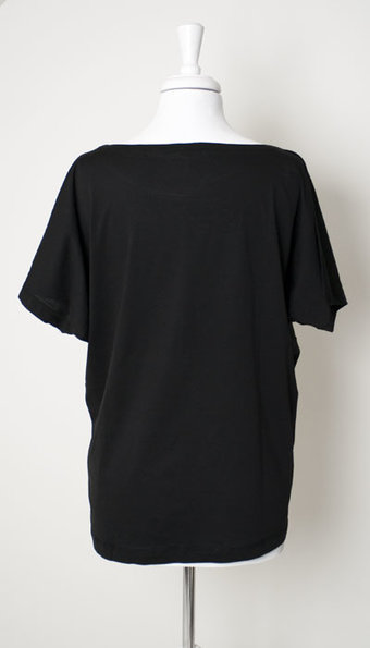 Mellow Rose - T-Shirt Gudrun Oversize Black