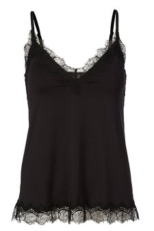 Rosemunde - Strap Top w lace Black