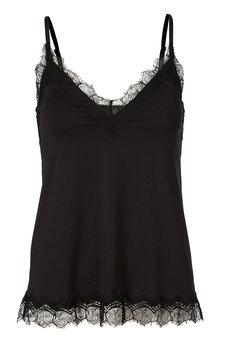 Rosemunde - Strap Top w lace Black