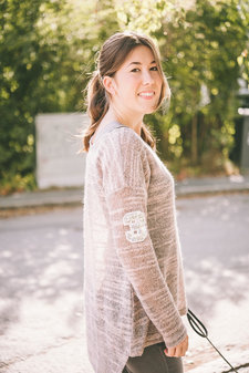 Barfota - Purl Sweater Light pink melange