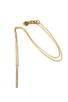 Syster P - Strict Sparkling Bar Necklace Gold