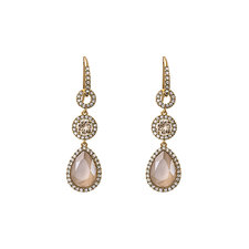 Lily and Rose - Amy Earrings Ivory Cream Lacqeur