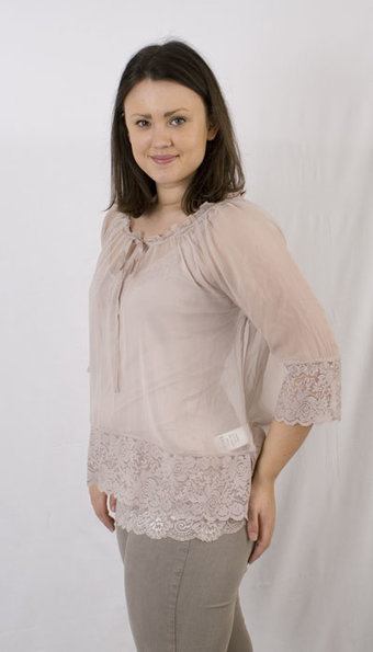 By Ti Mo - Blus Silk Georgette Dusty Pink