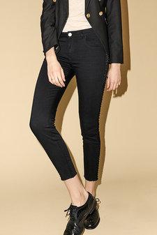 Mos Mosh - Sumner Velvet Frill Jeans Black Denim