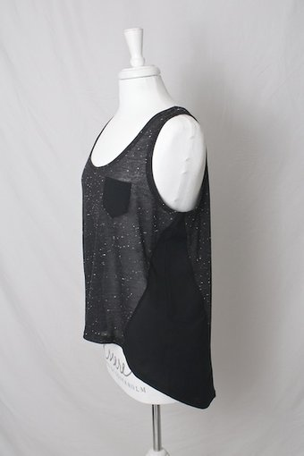 kaffe - Clarissa tank top Black Deep