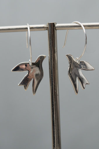 Syster P - Birdy Earrings Silver