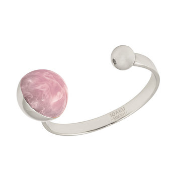Ioaku - The Planet Cuff Silver / Light Pink