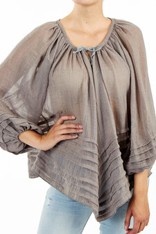 Circle of Trust - Mavis Top Grey Blush
