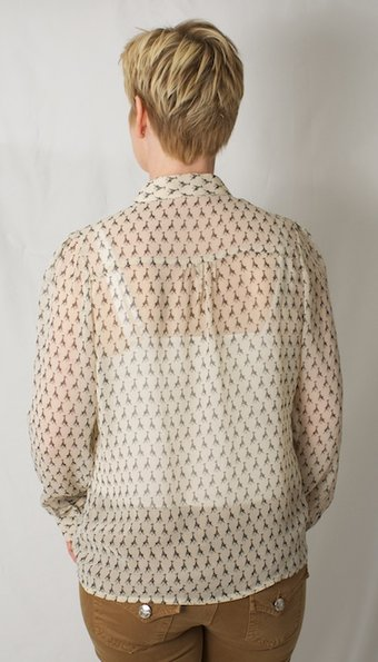 Repeat - Giraffe Blouse Creme