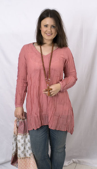 Kaffe - Anna Tunic Melon Rose