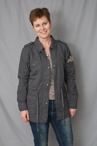 Culture - Ava Jacket Laundrey Grey Wash