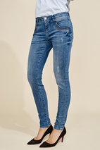 Mos Mosh - Naomi Shine Stitch Blue Denim