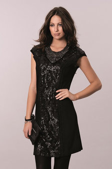 Cream - Cailey Dress Pitch Black