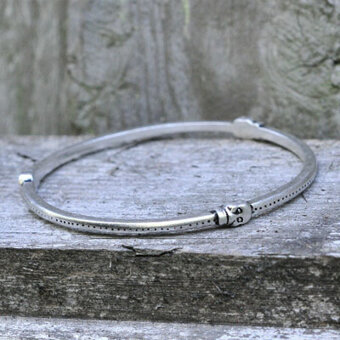 Barfota - Scull Bracelet Silver Antique