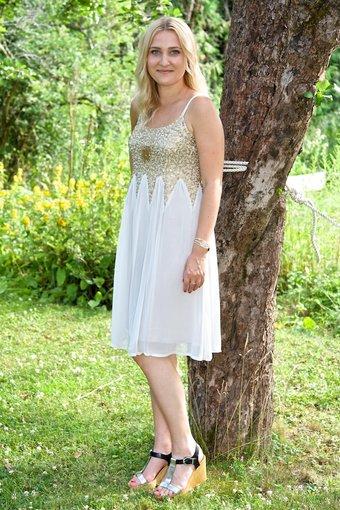 Cream - Tiffany Dress Dawn Grey