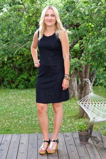 Cream - Lonnie Dress Pitch Black