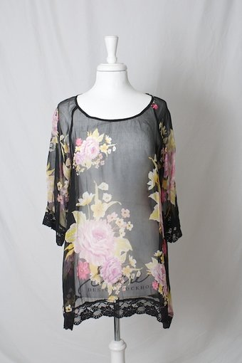Fairytale by Wild Roses - Tunic Roses Black
