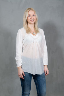 Circle of Trust - Abbie Top Off White