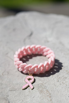 The Rubz - Pink Ribbon Silicon Bracelet