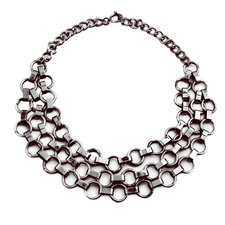 Pipol's Bazaar - September Necklace Gunmetal