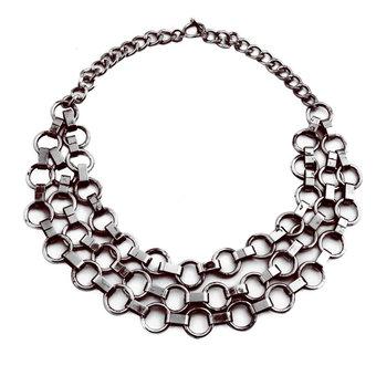 Pipol's Bazaar - September Necklace Gunmetal