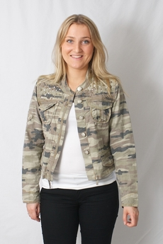 Cream - Tilly Jacket Grey Camouflage