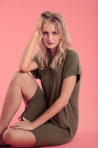 Culture - Kajsa T-shirt Dress Deep Lichen Green