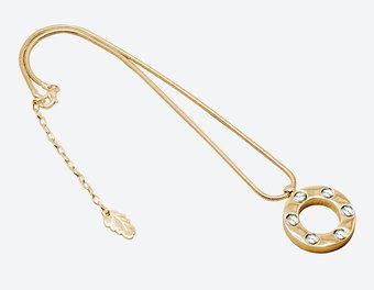 Ioaku - The Heaven Amulet Gold / White 45 cm