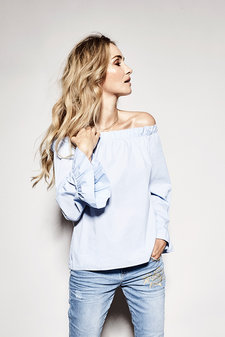 Mos Mosh - Penelope Shirt Light Blue