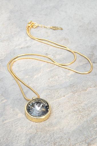 Ioaku -  Necklace The Zen Amulet 75 Gold / Smoke