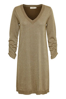 Cream - Serena Knit Dress Brown Gold