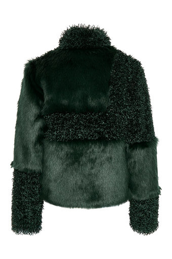 Cream - Cassie Fur Jacket Fall Green