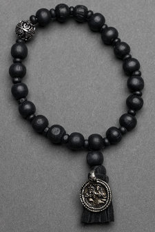 Ajlajk - Armband med tofs Black