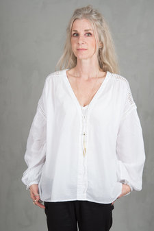 my Sunday Morning - Rampling Blouse White