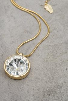 Ioaku -  Necklace The Zen Amulet 75 Gold / White
