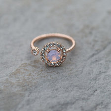 Lily and Rose - Ring Miranda Rose Opal
