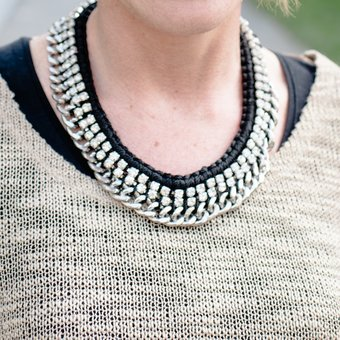 Second Female - Mae Necklace Black/Silver