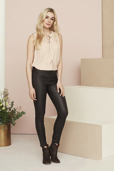 Cream - Belus Pants Katy fit Pitch Black
