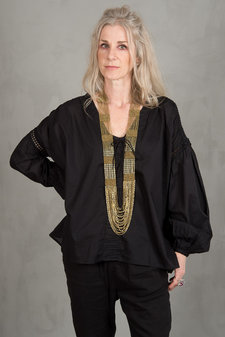 my Sunday Morning - Rampling Blouse Black