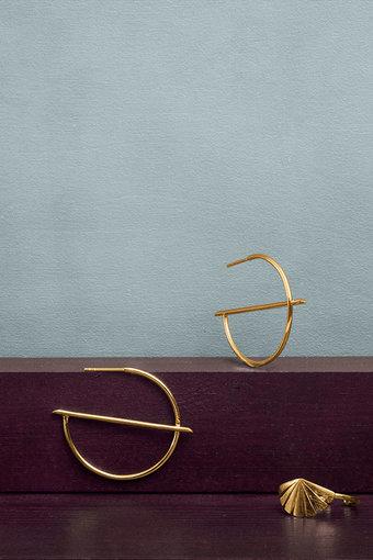 Pernille Corydon - Horizon Creoles Goldplated