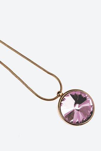 Ioaku -  Necklace The Zen Amulet 75 Gold / Pink