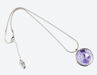 Ioaku - The Zen Amulet Silver / Lavender 45 cm