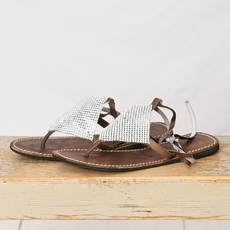 laidback london - Baily Flat Choco Silver strass