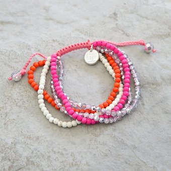 GOODHABIT - Bracelet Pink Orange White Mix