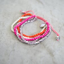 GOODHABIT - Bracelet Pink Orange White Mix